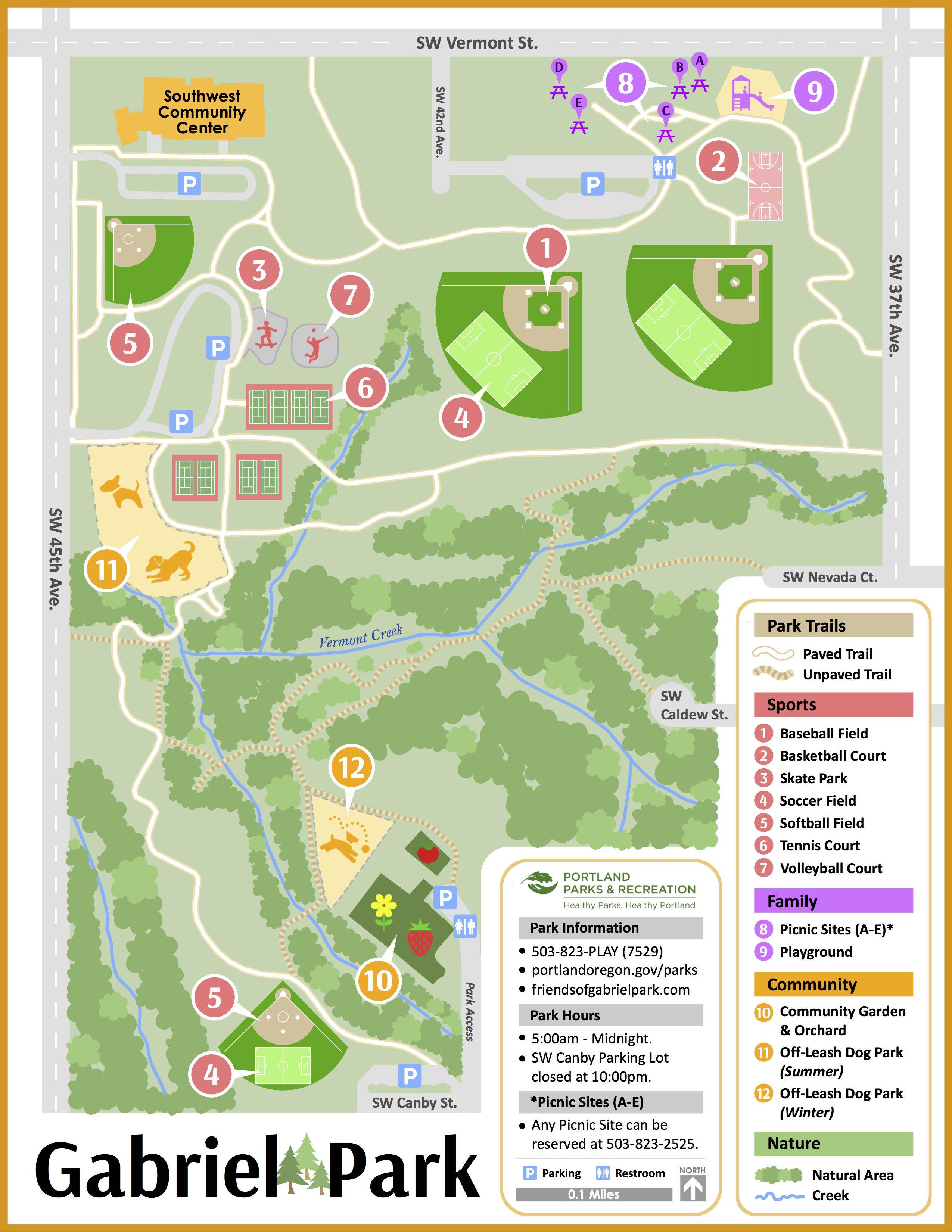 Maps Friends of Gabriel Park